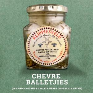 Klippiesveld Kaas | Chevre Balletjiesl | Garlic and Herbs (thyme) | The Flying Pig