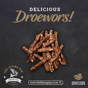 DROEWORS | The Flying Pig | Pork Droewors
