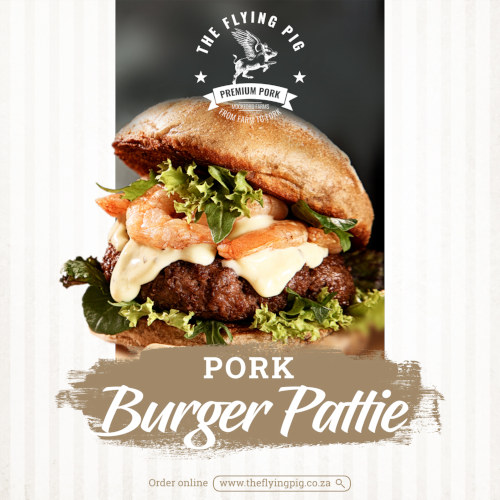 Pork burger Pattie   The Flying Pig   Mpumalanga
